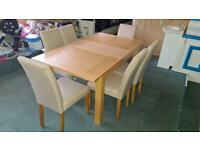 HARVEYS WOODEN DINING TABLE WITH 6 CHAIRS IN EXCELLENT CONDITION