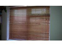 Wooden slat venetian blinds