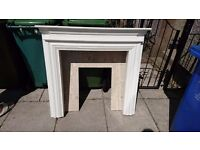 Fire Surround w/ Heater For Sale