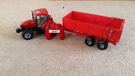 Remote control toy tractor
