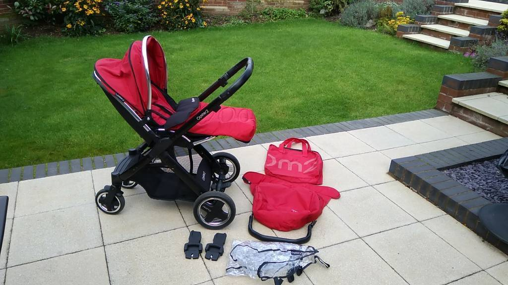 Oyster 2 Pram Red and Black with accessories good conditon