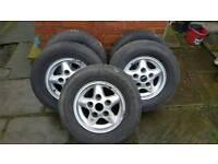 Alloy wheels set of 5 Land Rover Defender Disco. 5 Spoke