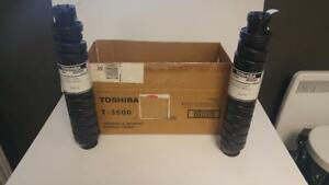 LOT OF 2 New Toshiba T-3500 black toner cartridge for e-studio 45 35 28