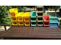 QTY 22 Lin Bins assorted colours