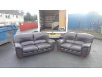 DFS 3&2 seater sofa in brown leather, mint mint condition £345 delivered