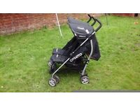 Cosatto double buggy in black and pink