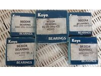 VARIOUS MOTORCYCLE WHEEL BEARINGS