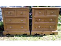 Lovely pair of solid pine drawers