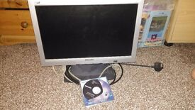 """Philips LCD Monitor 17"""" wide"""
