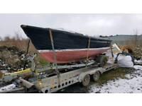 Dell quay project boat and trailer