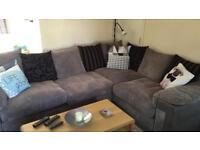 Left Hand facing fabric corner sofa