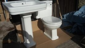 Wickes Charm Ceramic Toilet / Cistern & Basin - NEW