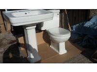 Wickes Charm Ceramic Toilet / Cistern & Basin - NEW