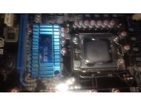 Asus X58 P6T-SE Motherboard + CPU (spares and repairs only)