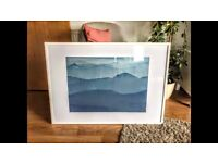 Habitat White Picture frame and Landscape Print £30
