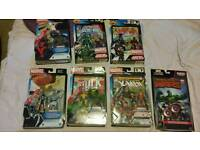 6 x marvel universe comic pack & 1 marvel legend comic pack