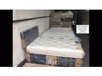 NEW Silentnight Double Size Divan bed with Mattress FROM £150.00. FREE DELIVERY