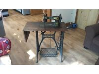 Antique Singer Sewing Machine Table Cast Iron
