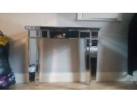 glass table with drawer