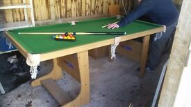 FREE POOL TABLE COMPLETE WITH CUES AND BALLS