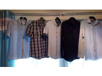 5 shirts from Debenhams and next brand new dress shoes