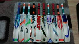 CRICKET BATS, ALL BRANDS AVAILABLE, 44 to 50 mm THICK EDGE, S H, ENGLISH WILLOW,NEW STOCK AVILABLE