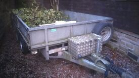 "Ifor Williams trailer for sale...10'x 6'6""...inc box,hoist etc"