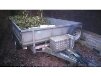 "Ifor Williams trailer for sale...10'x 6'6""...inc box,hoist etc"