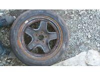 Vauxhall zafira wheel/tyre