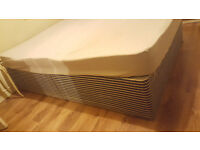 Double bed base and soft mattress