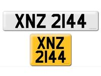 XNZ 2144 Private Cherished personal personalised registration plate number