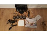 "Qvis CCTV surveillance cameras x 4, iapollo smart DVR, Samsung 17"" LED Monitor + instructions"