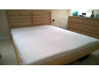 Ikea TARVA Double bed with HOVAG / HÖVÅG mattress included