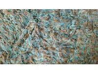 Large shaggy rug