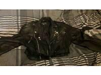 Leather Biker Punk Jacket