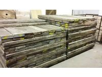 6ft reclaimed scaffold boards, 63mm thick, hundreds in stock, dry stored
