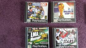 PlayStation 1 Football games x4