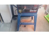 """Clarke table saw 10"""" good working order £80 or ono"""