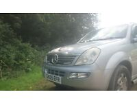 Caravan gone now selling 4x4 Mercedes engine Ssangyong Rexton Great Motor