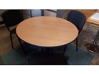 1 metre conference table with 3 matching chairs