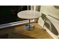John Lewis 4-Seater White Round High-Gloss Top Dining Table