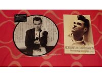 """MORRISSEY 10""""PIC DISC SUEDEHEAD & MORRISSEY IN CONVERSATION PAPERBACK"""