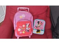 Minnie Mouse Wheeled Case & Lunchbox