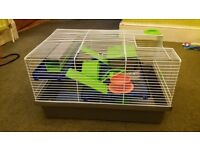 Hamster cage for sale. Good condition. Also have some bedding material. Collection only.