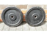 CAST IRON 15KG WEIGHT PLATES