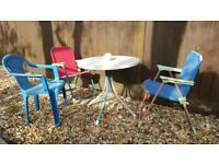 Children's Garden Furniture - Table and Chairs