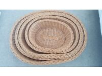 Wicker oval bed for dogs/ cats