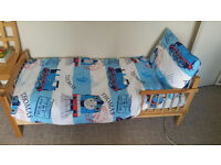 Toddler bed with bedding