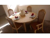 Farmhouse solid pine extending dining table & 4 chairs FROM £125 CHEAP DELIVERY Stalybridge SK15 2PT