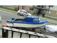 15ft cuddy boat trailer & engine for sale